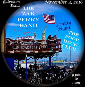 The Zak Perry Band LiVe The Poop Deck Club Galveston TX Lone Star Rally 2016